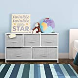 mDesign Extra Wide Dresser Storage Tower - Sturdy