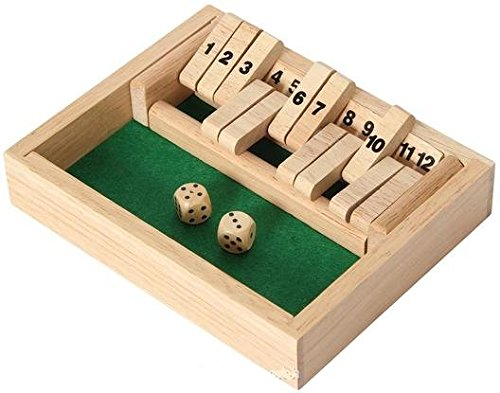 Wooden 12# Shut The Box Game - Small Travel Set - Simple funny Family, party board game Shut The Box Online