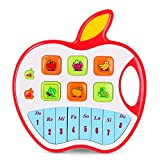 Baby Toys,Baby Music Toys Musical Instruments Play Piano and Keyboards,NextX Apple Piano for Excavate Baby Musical Talent