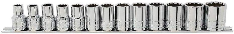 Signet S13393 13pc Standard Metric Socket Set 1//2 Drive 10-24mm