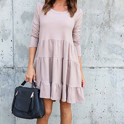 Vestido De Festa Female Winter Plus Size Loose Kawaii Autumn Women Mini Dress Long Sleeve Sweet