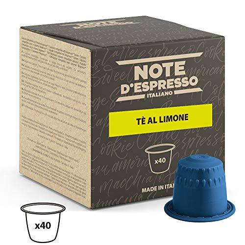 Note D Espresso Capsulas de Te, Limon - 40 Unidades da 8g, Total 320 g Exclusivamente Compatible con cafeteras Nespresso