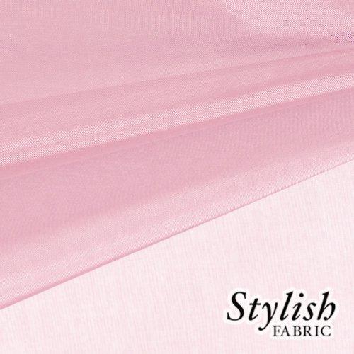 59'' Baby Pink Organza Fabric by the Bolt - 50 Yards by Stylishfabric