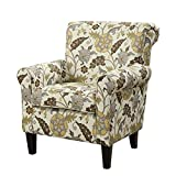 Coaster Casual Cream/Floral Accent Chair with Decorative Rolled Arms Review