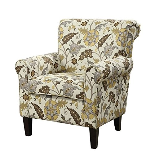 Coaster Home Furnishings Flower Pattern Accent Chair Cream and - Chair Match Accent