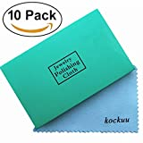 platinum sheet metal - Polishing Cloth for Sterling Silver Gold Platinum Brass and Copper, kockuu 10 Pack Jewelry Cleaning Cloth, Individually Packed in Premium Card - Pack of 10