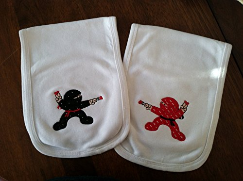Amazon.com: Set of 2 Love Ninja Burpcloths: Handmade