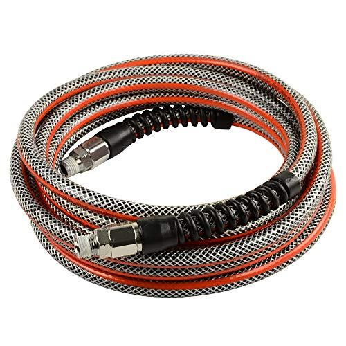 1/4 x 15 Ft Striper Flex Reinforced Hybrid PVC Air Hose Bend Restrictors 300 PSI
