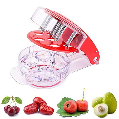 eoocvt Kitchen Gadget Stainless Steel Zigzag Blades Cherry Pitter - 6 Cherries ()