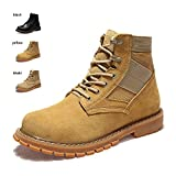 ENLEN&BENNA Women&Men's Desert Boots Military Boots Work Tactical Combat Boot Composite Toe Casual Boots Fashion Shoes Brown