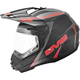 EVS T5 Venture Dual Sport Adult Dirt Bike Motorcycle Helmet - Matte Black/Red / Medium
