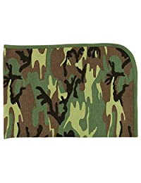 Woodland Camouflage Military Infant Baby Receiving Blanket