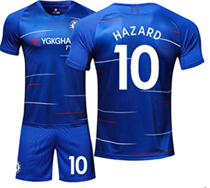 c18317ebb85 LISIMKE Soccer Team Home 2018/19 Chelsea Hazard #10 Kid Youth Replica  Jersey Kit
