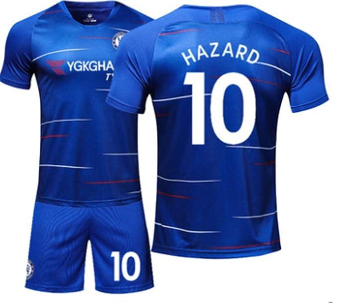 Amazon.com: LISIMKE Chelsea Hazard # 10 - Camiseta de fútbol ...