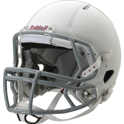 Riddell Youth Speed Football Helmet, White/Gray, Large