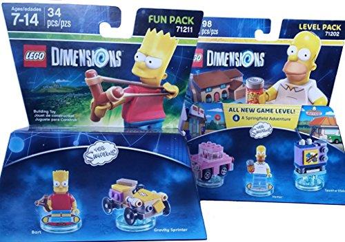 Simpsons Bart Homer Dimensions Bundle - 2 items