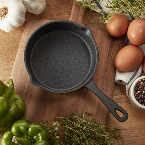 CasaModa 5178395 Pre-Seasoned Cast Iron Mini Round Fry Pan, 5-Inch