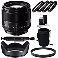 Fujifilm XF 56mm f/1.2 R Lens + 62mm +1 +2 +4 +10 Close-Up Macro Filter Set with Pouch + 62mm Multicoated UV Filter Bundle 5