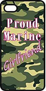 Proud Marine Girlfiend Camoflauge Black Plastic Case for Apple iPhone 4 or iPhone 4s by icecream design