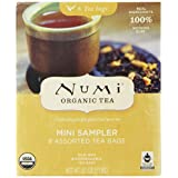 Numi Organic Tea Mini Sampler Variety Pack, Assorted Tea Bags of Traditional Organic Blends. Black Tea, Green Tea, White Tea, Herbal Tea. 8 Count Box