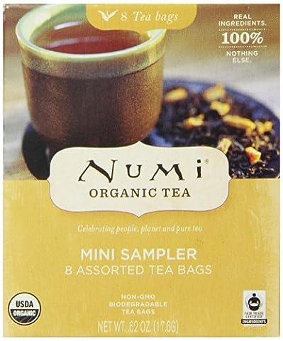 Numi Organic Tea Mini Sampler Variety Pack, Assorted Tea Bags of Traditional Organic Blends. Black Tea, Green Tea, White Tea, Herbal Tea. 8 Count - Numi Black Organic Tea