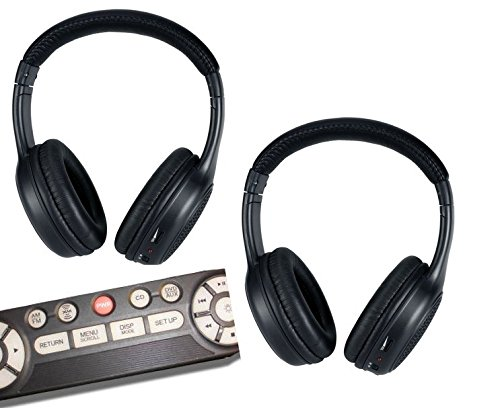 AudioVideo2go Headphones and DVD Remote Compatible With Honda Pilot Model 2009 2010 2011 2012 2013 2014 2015 ()