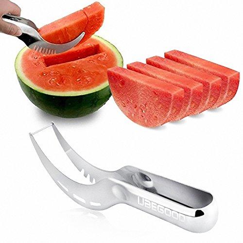 Wassermelone Messer, Ubegood Küche Obstschneider wassermelonen schneider Hobel/ watermelon cutter von rostfreiem Stahl