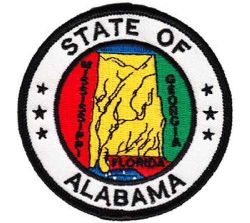 Alabama - 3 in Round State Seal Patch