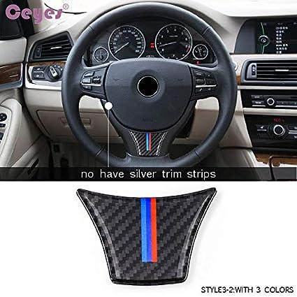 Ceyes Carbon Fiber Car Styling Steering Wheel Sticker Case