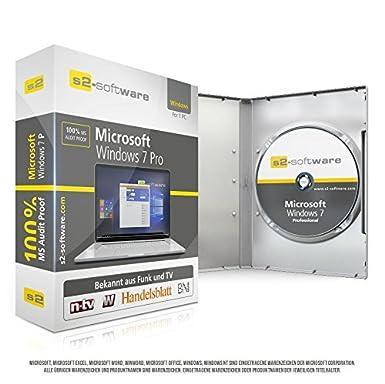 Microsoft® Windows 7 Professional Pro. Original-Lizenz 64 Bit. Deutsch und ML. Audit Sicher, S2-ISO DVD, Lizenz. CLP Zertifik