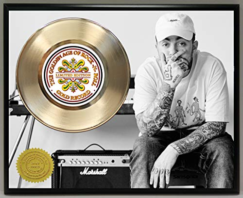G.A.R.R. Mac Miller Gold Record Poster Art Limited Edition Commemorative Music Memorabilia Display Plaque ()