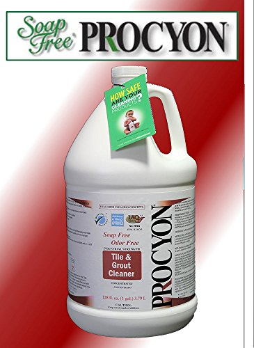 4 Each- 1 Case- 128 oz. Bottles- Soap Free PROCYON Tile & Grout Cleaner Concentrate by Procyon