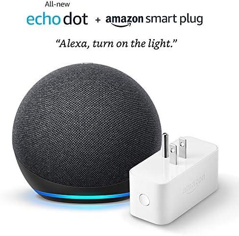 All-new Echo Dot (4th Gen) + Amazon Smart Plug | Charcoal