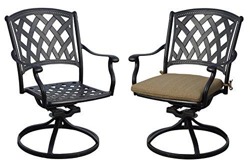 Swivel Chair Outdoor Aluminum Patio - 8