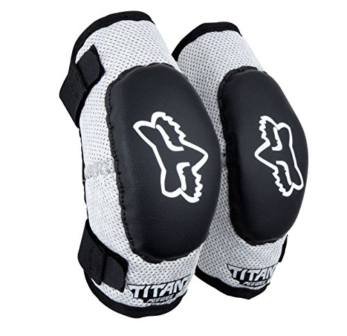 2012 FOX PEE WEE TITAN ELBOW GUARDS (BLACK/SILVER)