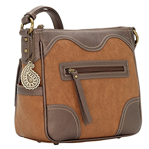 Purse Matching Concealed with Wallet Carry Metallic Crossbody AW Tan qX6wEORxZ