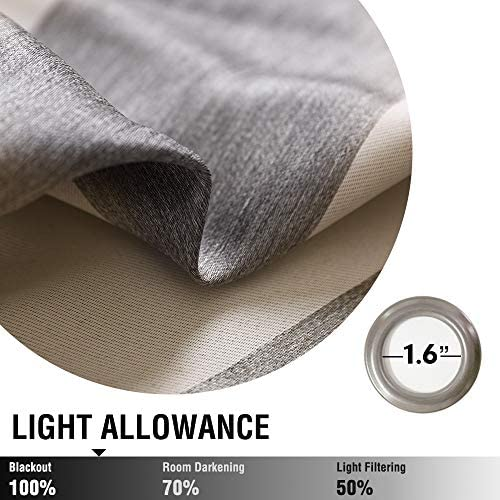 jinchan Beige /& Grey 45-Inch-Long Curtains Drapery Window Grommet Treatment Set for Living Room Thermal Insulated Room Darkening Light Blocking Curtain Panels for Bedroom Striped Curtains 1 Pair CKNY HOME FASHION JCBLKSTP-5245C02