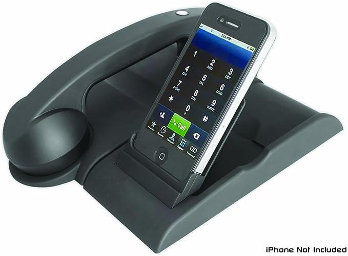 Pyle - Teléfono inalámbrico recargable con Bluetooth y base para iPod, iPhone 4S/4/3G, Samsung Galaxy y teléfonos Android, color negro: Amazon.es: Electrónica
