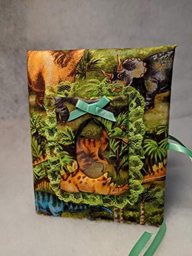 Custom Dinosaur Baby Boy Photo Album - Holds 100 4x6 Photos - Handmade Fabric Photo Albumrn Album Baby Shower Gift - Handmade - Holds 100 4x6 photos