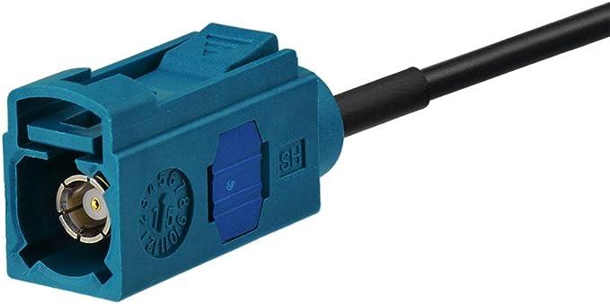 Blaupunkt Pionnier Clarion Kenwood Alpine JVC Eightwood C/âble Fakra Dab Fakra Z vers Raku 2 C/âble Queue Cochon RG58 8 Pouces 20cm pour antenne Dab Voiture Antenne FM Antenne AM//FM Dab