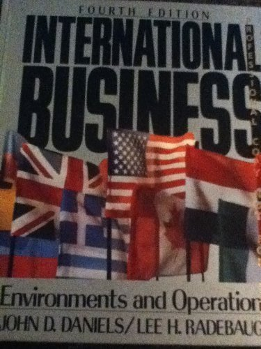 International Business: Environments and Operations