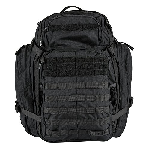5.11 Rush USA 3-Day Tactical Backpack with Codura Nylon, MOLLE, Sunglass/Gadget Pocket, Hydration Pack Pocket - Style# 56361 - Black ()