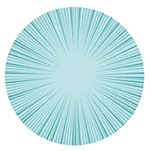 alfombrilla de ratón fondo radial de velocidad cómica - ronda - 20cm