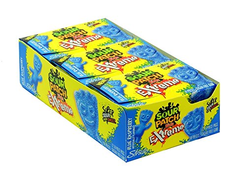 Product Of Sour Patch Kid, Gum Extreme Blue Raspberry, Count 12 (14S) - Gum / Grab Varieties & Flavors (Flavors Kids Patch Sour)
