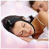 SleepWell Pro Adjustable Stop Snoring Chin Strap (Black)