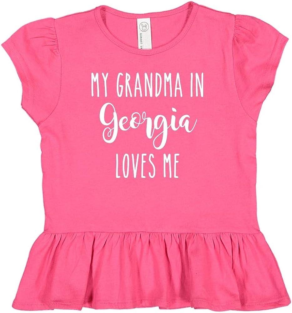 My Papa in Georgia Loves Me Toddler//Kids Long Sleeve T-Shirt
