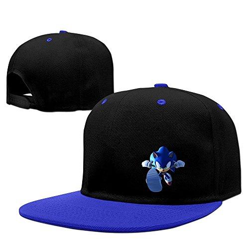 Sonic The Hedgehog Running Snapback Hiphop Baseball Cap Hat Adjustable 100% Cotton Male/Female RoyalBlue By (Female Sonic The Hedgehog)