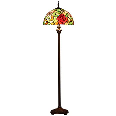 Lámpara de pie de estilo Tiffany, lámpara de suelo de ...