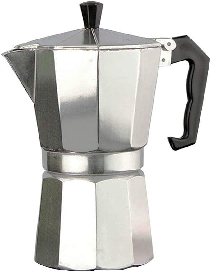 Youlin - Cafetera italiana de acero inoxidable con asa, ver imagen, S: Amazon.es: Hogar