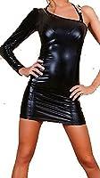 Très sexy en cuir Faux / PVC Robe Une Manche Taille 38-40 érotique